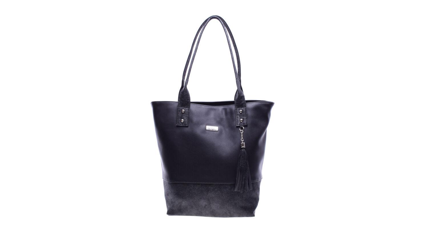 071e49e2ce7d Diva Női Fekete Nagy Műbőr Válltáska - Válltáskák - Táska webáruház - Minőségi  táskák mindenkinek