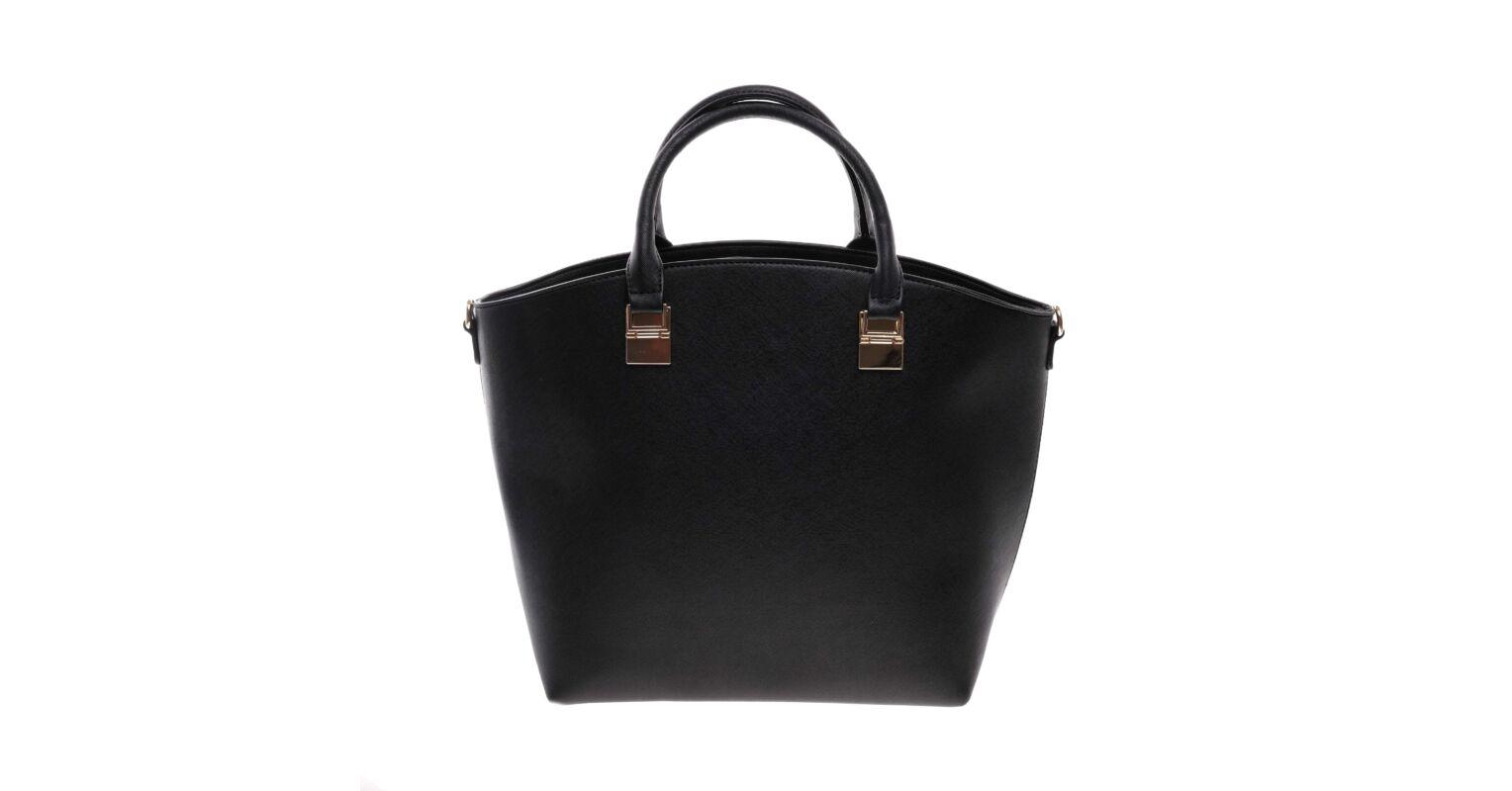 66cebc17c8d8 Nagy Fekete Színű Női Műbőr kézitáska - Válltáskák - Táska webáruház -  Minőségi táskák mindenkinek