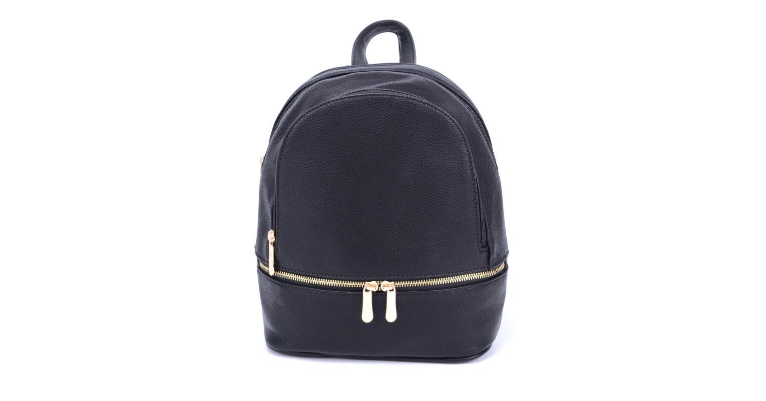 843c39ef2e80 Mac Queen Fekete Dupla zsebes közepes Női Műbőr Hátizsák - Műbőr - Táska  webáruház - Minőségi táskák mindenkinek