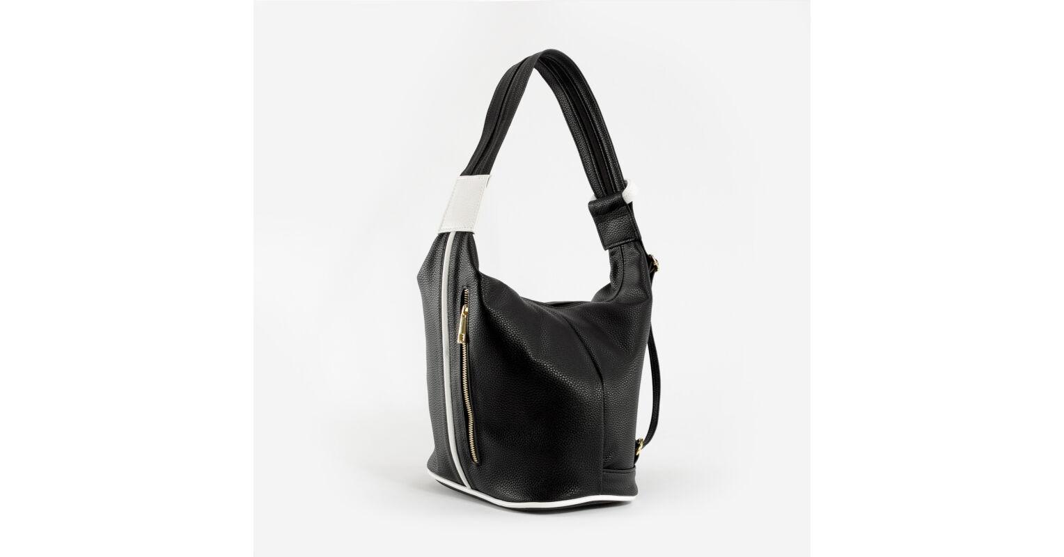 572c38e9f6c9 Prestige Fekete-Fehér Rostbőr Női Válltáska És Hátizsák - Válltáskák - Táska  webáruház - Minőségi táskák mindenkinek