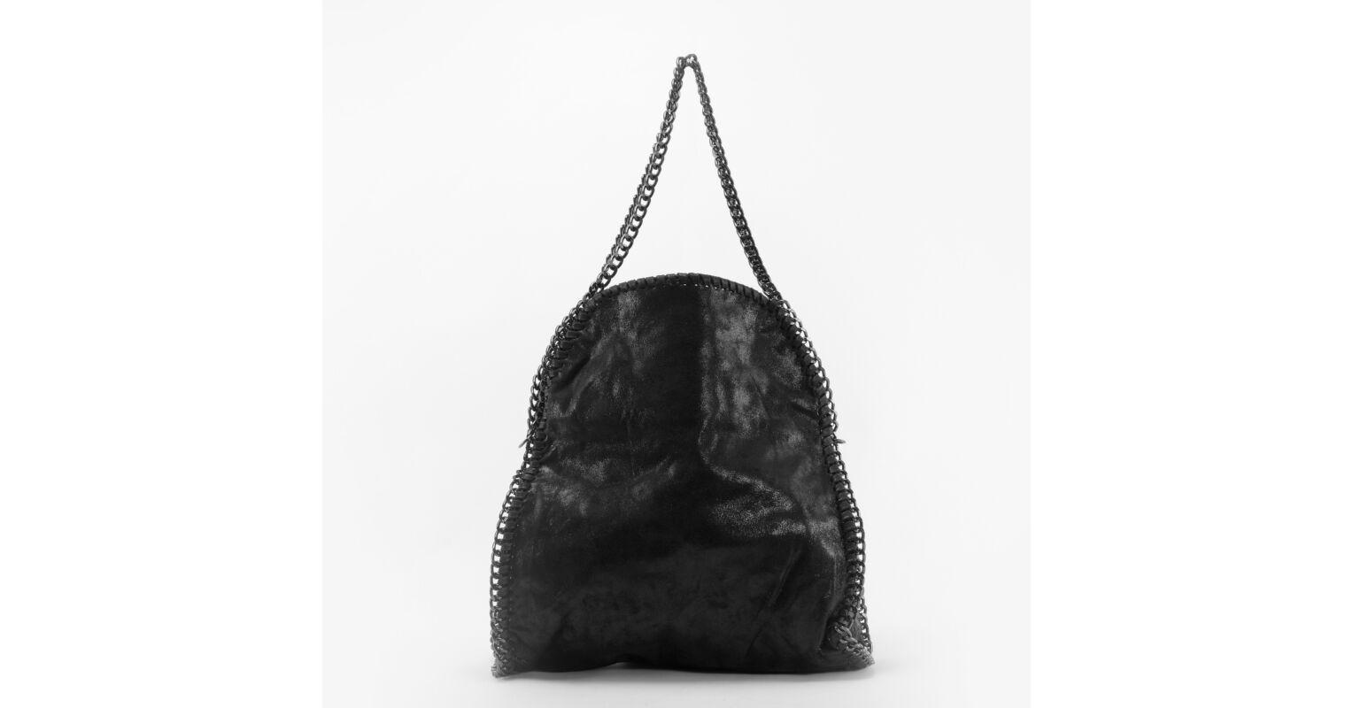 383115296df8 Venti Fekete Láncos Női Műbőr Válltáska - Válltáskák - Táska webáruház -  Minőségi táskák mindenkinek