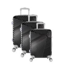 LC-015 fekete PVC bőrönd szett