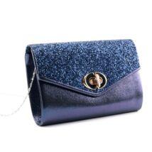 Kék női csillámos alkalmi táska