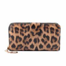 Női leopárd mintás műbőr pénztárca