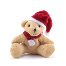 Karácsonyi macis kulcstartó barna