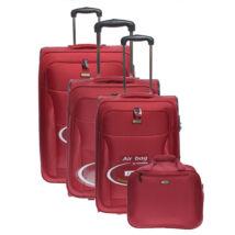 Air6201 Bordó Touareg  Bőrönd Szett