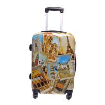 Ormi Europetravel Mintás Kemény Nagy Bőrönd