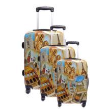 Ormi Europetravel Mintás Kemény Bőrönd Szett