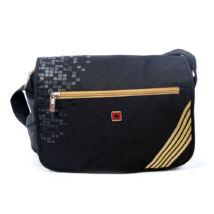 Swisswin Dernier Polyester Oldaltáska - Fekete/Arany
