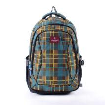 AOKING barna/zöld kockás hátizsák
