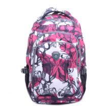 Rózsaszín-fehér mintás hátizsák hátizsák