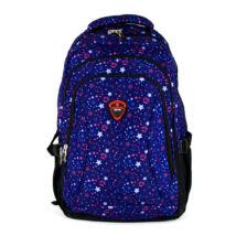 AOKING kiscsillagmintás kék színű hátizsák