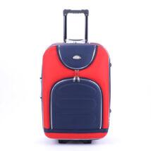47 Cm × 76 Cm × 32 Cm Nagy Bőrőnd Piros/Kék (2 Kerekű)