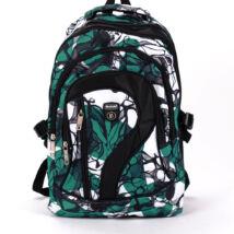 Zöld-fehér mintás hátizsák hátizsák