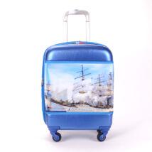 Besty Vitorlás Kemény Nagy Bőrönd (4 Kerekű)