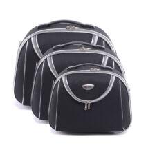 Fekete Bőröndre Akasztható Táska Szett