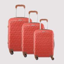 LDV Piros Kemény falú Négy kerekű Bőrönd Szett