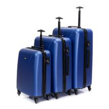 Bontour Kék Könnyű Négy kerekű Kemény Bőrönd Szett - 2 Év Garancia