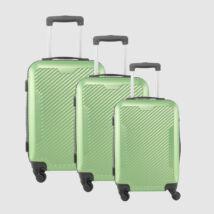 LDV Neonzöld 4 kerekű  Műanyag Kemény Kabin Bőrönd Szett
