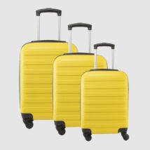 Sárga Kemény falú Négy kerekű Könnyű Három részes szett