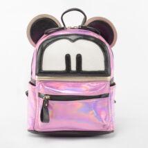 Besty Női Rózsaszín Műbőr Lakkhatású füles hátizsák