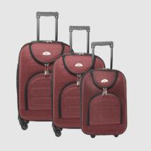 Easy Trip Piros Puha falú Bőrönd Szett