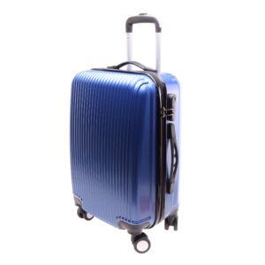 L888 Kék Közepes  Méretű Bőrönd