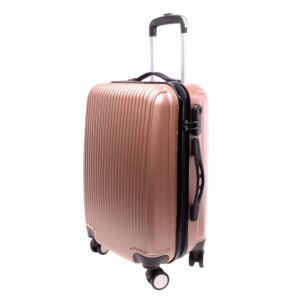 L888 Rózsaarany Közepes  Méretű Bőrönd