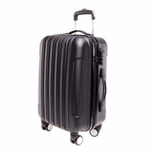 Fekete Közepes Bőrönd M