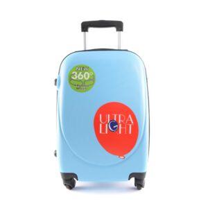 Besty világoskék Kemény Közepes bőrönd (4 Kerekű)