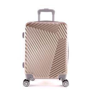 LC-015 arany közepes méretű PVC bőrönd (69*45*26 cm)