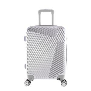 LC-015 ezüst közepes méretű PVC bőrönd (69*45*26 cm)