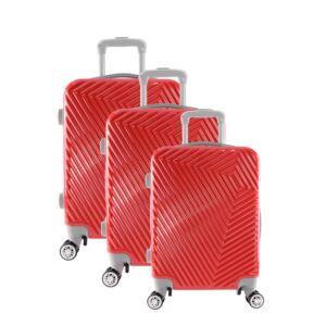 LC-015 piros PVC bőrönd szett