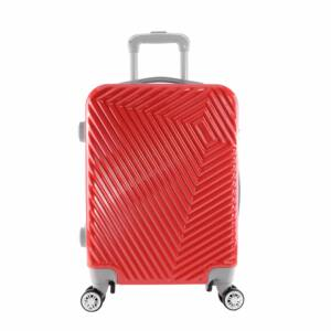 LC-015 piros közepes méretű PVC bőrönd (69*45*26 cm)