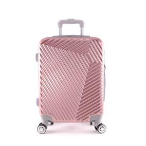 LC-015 rózsaarany nagy méretű PVC bőrönd (77*49*30 cm)