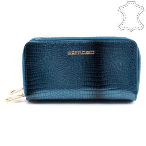 Gregorio kék női lakkbőr pénztárca