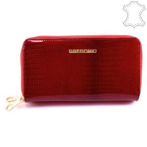 Gregorio piros női lakkbőr pénztárca