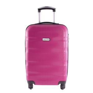 LDV Fukszia Hullámnyomott ABS Kabinbőrönd (55*37*20 cm)
