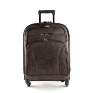 Besty Ultra könnyű barna közepes méretű puha bőrönd