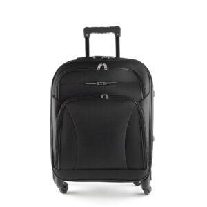 Besty Ultra könnyű fekete közepes méretű puha bőrönd