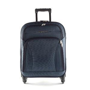 Besty Ultra könnyű sötétkék közepes méretű puha bőrönd