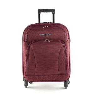 Besty Ultra könnyű bordó nagy méretű puha bőrönd
