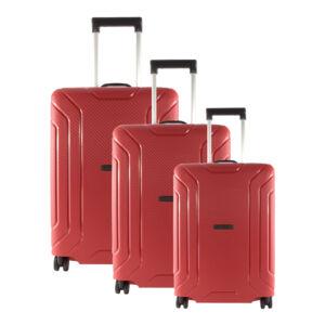 Piros Touareg Matrix polipropilén kemény bőrönd szett