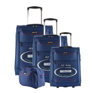 Touareg kék színű extra könnyű bőrönd szett