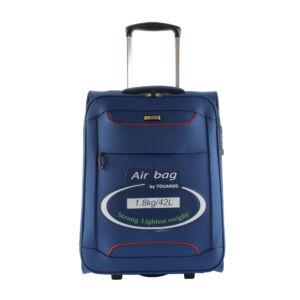 Touareg kék színű extra könnyű közepes méretű bőrönd