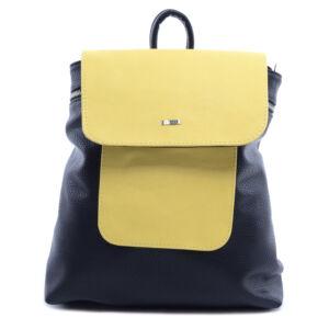 VIA*55 kis méretű elegáns fekete-sárga hátizsák