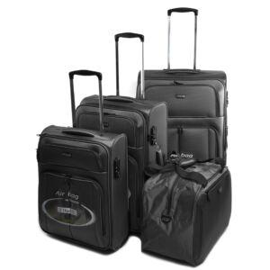 Touareg Fekete Bőrönd Szett