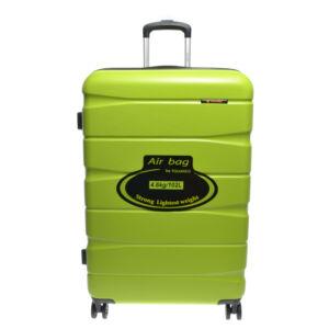 15A128 Lime Zöld Touareg Nagy Méretű Kemény Bőrönd