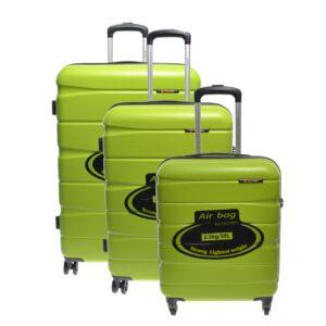 15A128 Lime Zöld Touareg  Kemény Bőrönd Szett