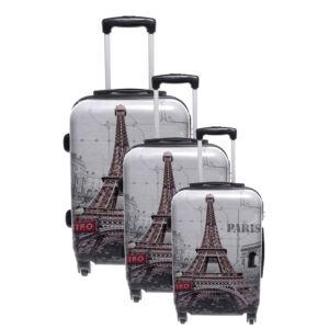 Ormi Eiffel Tornyos Kemény Bőrönd Szett